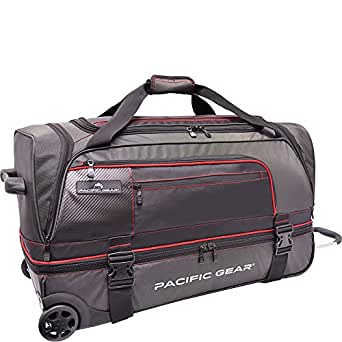 Pacific Gear Drop Zone Drop-Bottom Rolling Duffel Travel and Sports Bag