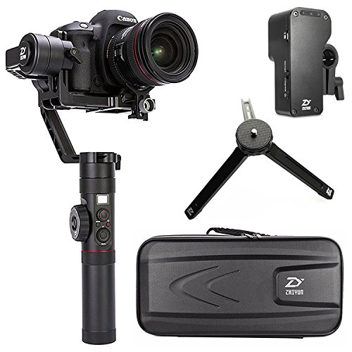 (Zhiyun Crane 2 2017 Newest ver(with Follow Focus) 3 axis Handheld Gimbal Follow Focus 3.2kg Payload OLED Display for Canon 5D2, 5D3, 5D4, GH3, GH4, Nikon Sony DSLR Camera)