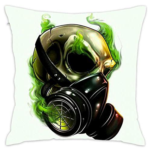 NEWcolor Fashion Gift Cotton Square Throw Waist Pillow Case Decorative Cushion Cover Pillowcase Sofa Gas Mask Skull