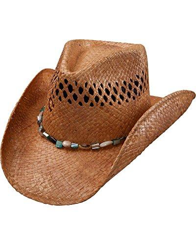 Charlie 1 Horse Womens Maui Wowi Straw Cowgirl Hat Tea Medium