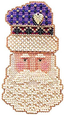 Kris Kringle 1999 Bead Ornament Kit Mill Hill 1999 Charmed Santa Faces