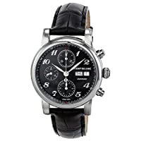 Montblanc Star Automatic Chronograph Black Guilloche Dial Mens Watch 106467 by Montblanc