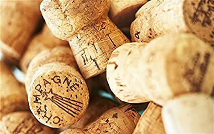 Premium Recycled Champagne Corks, 50 Count.