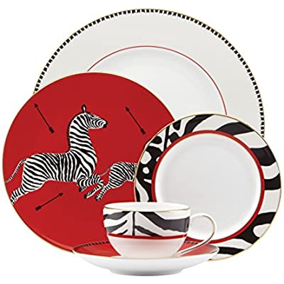 Click for Lenox Scalamandre Zebras 5 Piece Place Setting, White