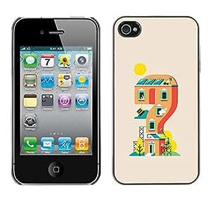 Caucho caso de Shell duro de la cubierta de accesorios de protección BY RAYDREAMMM - iPhone 4 / 4S - Casa de juegos