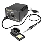 uxcell Model 936A US Plug 60-Watt Soldering Iron Station Kit with Auto Cool Down Function, Ergonomic Soldering Iron, Solder Holder, Soldering Tips, Soldering Wire and Tweezer