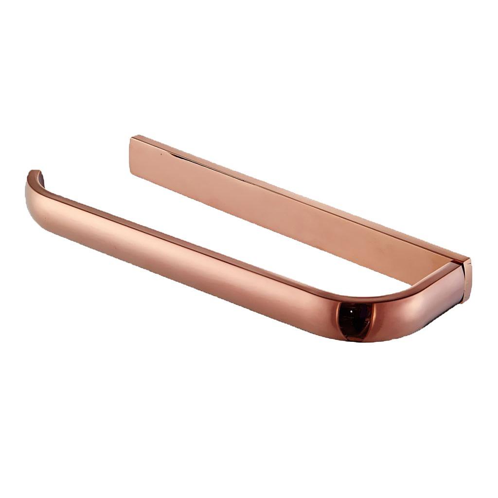 Baoblaze 1pc Single Towel Ring Rack Rail Wall Hook Rose Gold 295mm Bathroom Holder