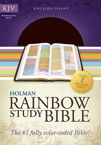 KJV Rainbow Study Bible, Brown Bonded Leather (2013-09-15)