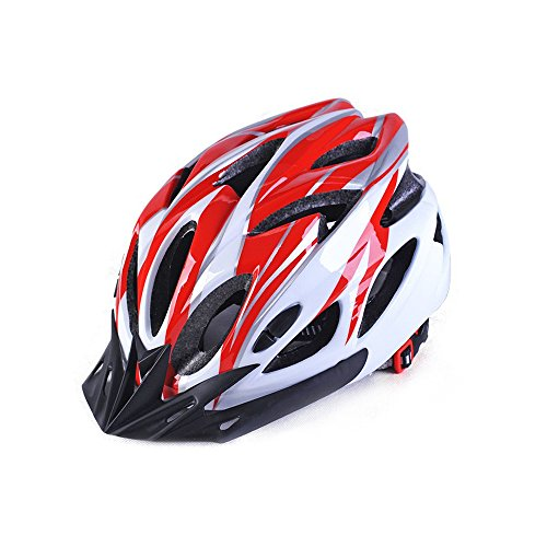 Best 007 Adult Cycling Bike Helmet(Red&White)