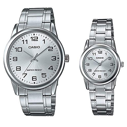 Casio #MTP-V001D-7B Men's Standard Stainless Steel Easy Reader Silver Dial Watch