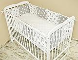 Bettumrandung Nest Kopfschutz Nestchen 420x30cm, 360x30cm, 180x30 cm Bettnestchen Baby Kantenschutz Bettausstattung MIX 6 (360x30cm)
