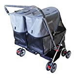 YOOKI P-09GY Double Side Pet Stroller, Gray