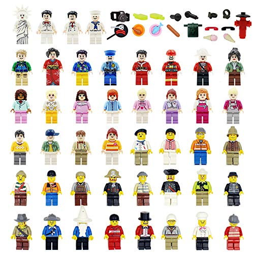 CHICKEN TOYS Minifigures Sets of 48+22 Include Building Bricks Mini People and Accessories for Party Favors, Gifts, Just to Build for Fun