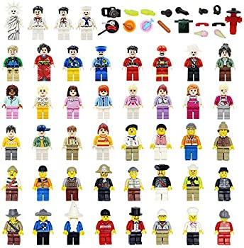 Set of 48 Maykid Minifigures with Figures Accessories