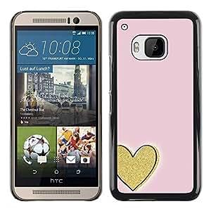Paccase / SLIM PC / Aliminium Casa Carcasa Funda Case Cover para - Gold Love Pink Minimalist - HTC One M9