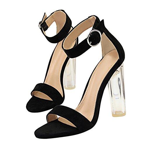 pour 2 Femme Noir 5 Miyoopark MiyooparkUK 36 Sandales DS29 Noir 6wInqfR