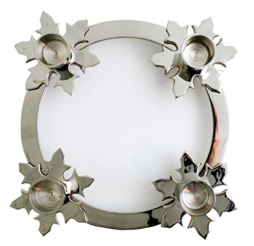 Biedermann & Sons Chrome Snowflake Advent Ring, 8-Inch Diameter ()