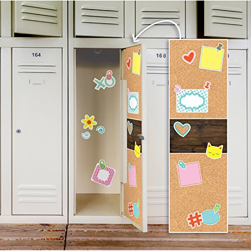 BirthdayExpress Faux Printed Cork Board School Supplies Locker Decal Decoration -