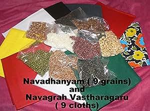 9 cloths & grains for Navagraha Homam & Pooja Hinduism