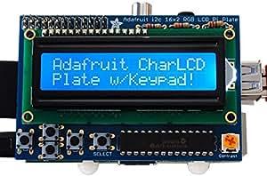 ADAFRUIT INDUSTRIES 1115 BLUE & WHITE 16X2 LCD + KEYPAD KIT, RASPBERRY PI