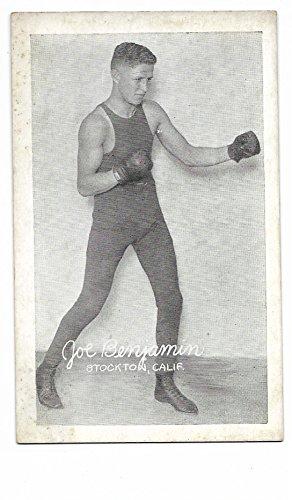 1923 Exhibit Supply Company Boxing Exhibit Joe Benjamin Card Vg-Ex Condition ()