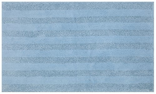 - Mohawk Basic Stripe Forget Me Not Blue Plush Striped Washable Bath Mat, 17x24, Light Blue