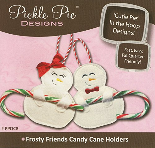 Frosty Friends Candy Cane Holder Cuties CD (In the Hoop Project) by Pickle Pie Designs (PPDC8) (Best Friend Embroidery Design)