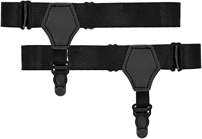 Men Sock Garters Elastic Sock Stays Belt Clip Adjustable Suspenders Accessories^