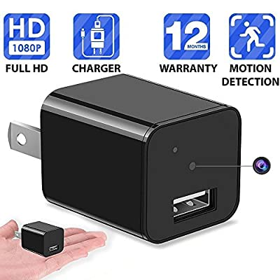 1080P Motion Detection USB Wall Charger Camera Plug Spy Cam Adapter Camera Loop Recording Nanny Cam Support to 32GB Storage from Heymoko