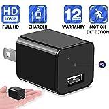 Heymoko Motion Detection HD 1080P USB Wall Charger Camera Plug Camera Loop Recording Nanny Cam Support to 32GB Storage