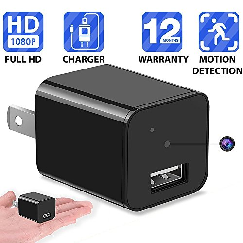 1080P Motion Detection USB Wall Charger Camera Plug Spy Cam