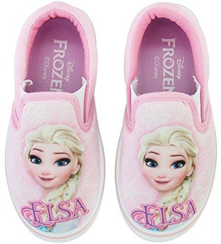 Joah Store Frozen Elsa Slip-on for Girls Synthetic Leather Canvas Anti-Slip Sneakers Pink Shoes (1 M US Little Kid, Frozen Elsa)