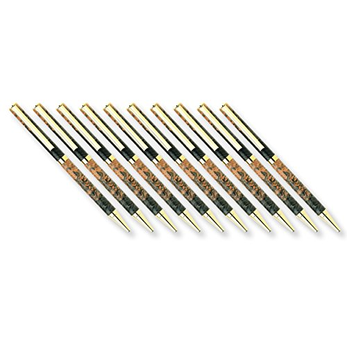 Style Kit Pen - Woodturning Project Kit, Slim Style Cobalt Gold Solid Clip Ballpoint Pen, 10pk