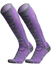 Ski Socks 2 Pairs Pack for Skiing, Snowboarding, Cold...