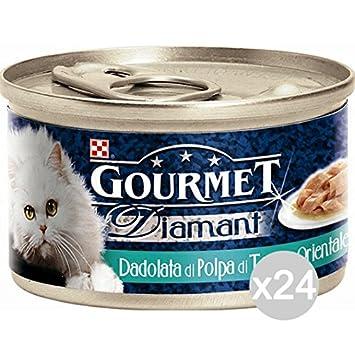Set 24 PURINA Gourmet Diamant Atun Gr 85 Salsa De Carne De Alimentos Para Gatos