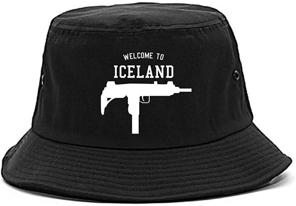 Welcome To Iceland Uzi Machine Guns Country Bucket Hat