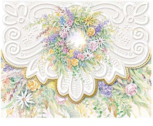 (Carol Wilson Fine Arts Inc.- Wreath - Embossed & Die Cut Blank Note Cards in Portfolio Box - 10 count - ncp2133)