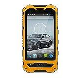 Unlocked Cellphone Hipipooo Waterproof Mobile Phone Dustproof Shakeproof Rugged Smartphone Android 4.4.2 3G Unlocked Mobile Phone 4.0 inch Mtk6582 Dual-Core,Dual SIM Card Slot (Yellow)