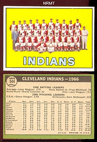 1967 Topps Regular (Baseball) Card# 544 Indians Team of the Cleveland Indians VGX Condition by Topps