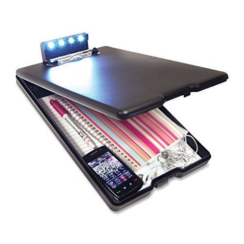 Niton Equipment ATB007 Nite Redi Illuminated Storage Board/Clipboard - Black by Niton Equipment