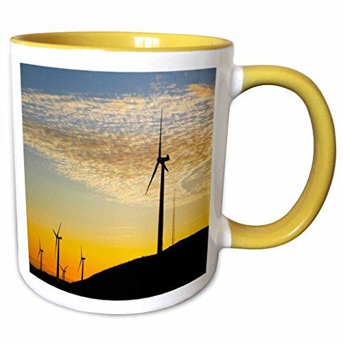 3dRose Danita Delimont - Energy - New Zealand, North Island, Te Apiti Wind Farm, Energy-AU02 DWA6073 - David Wall - 11oz Two-Tone Yellow Mug (mug_71709_8) Apiti Wind Farm