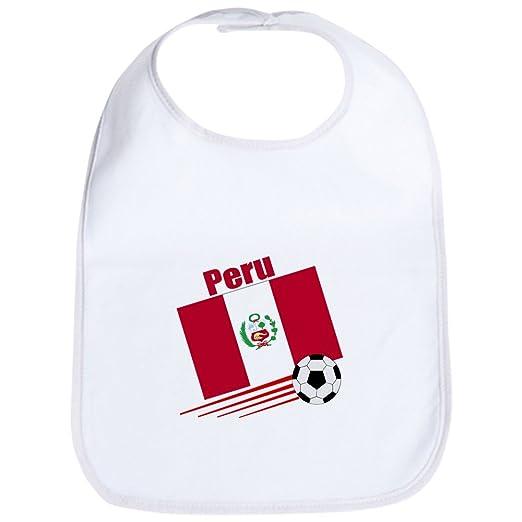 77188526e8c0eb Amazon.com: CafePress - Peru Soccer Team Bib - Cute Cloth Baby Bib, Toddler  Bib: Clothing