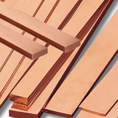 US 99.6/% T2 Purple Copper Cu Flat Bar Plate 3mm x 15mm x 250mm Metal Strip New