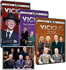 Vicious Complete DVD Gift Collection: Season 1, 2 and The Finale with Bonus Cast Photo