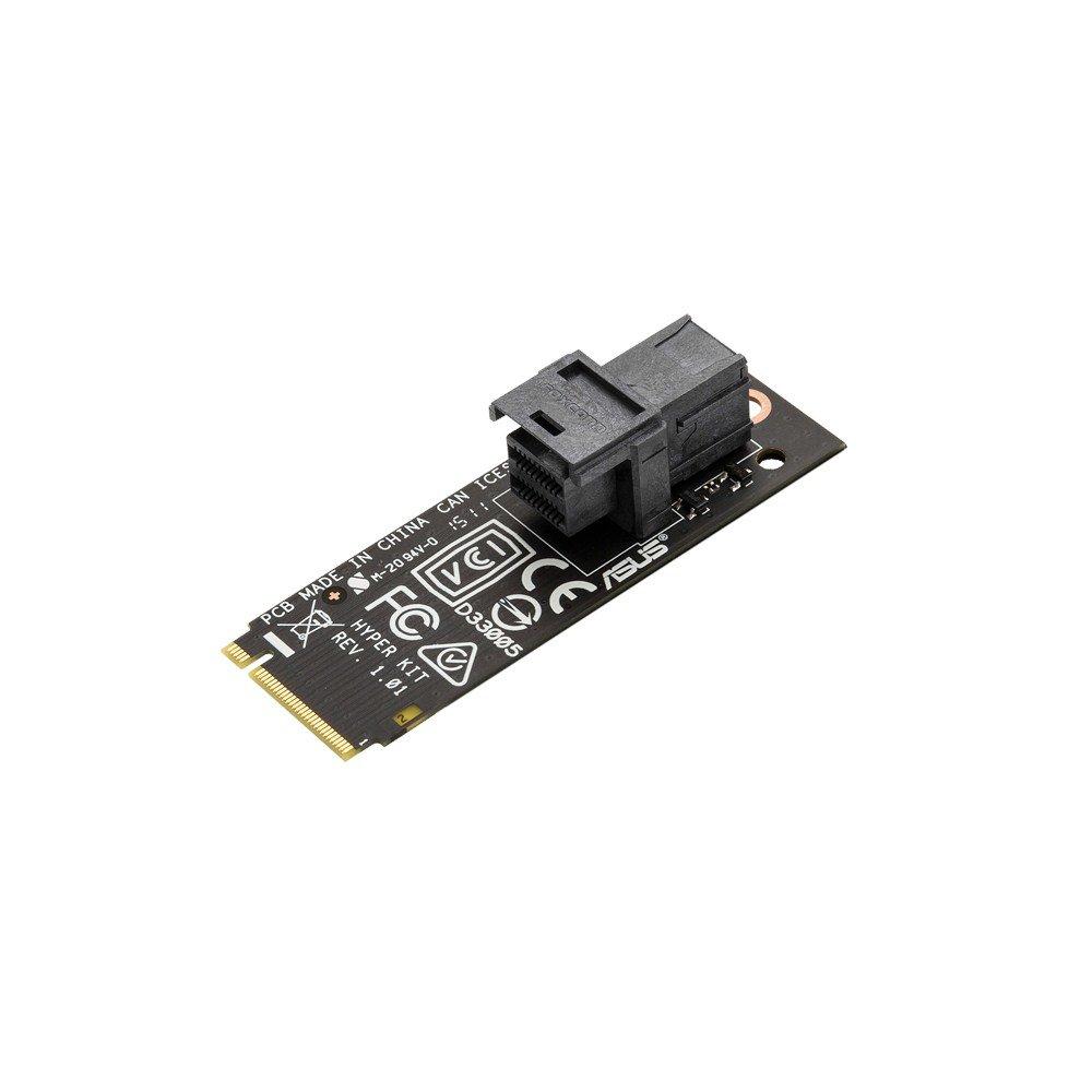 M.2, Mini SAS, Negro, PCI Express, 65 mm, 15 mm ASUS Hyper Kit Interno Mini SAS Tarjeta y Adaptador de Interfaz Accesorio