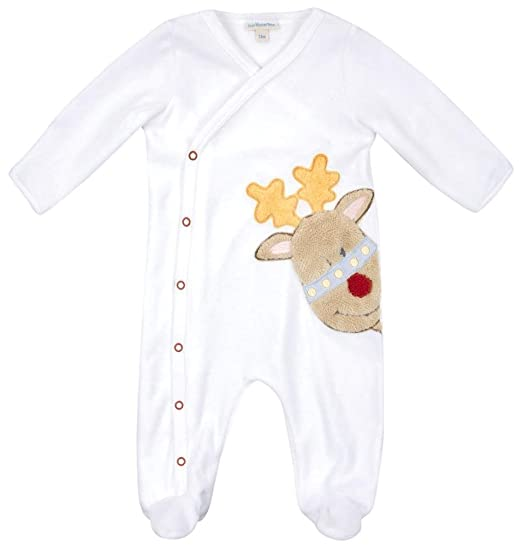 d1cc72d1debb Amazon.com  Jojo Maman Bebe Unisex-Baby Newborn Footie  Infant And ...