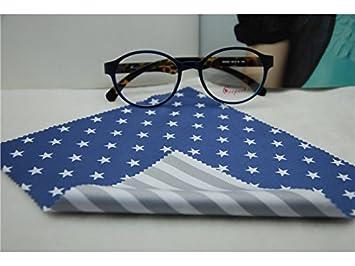 Annuor - Toallitas de limpieza a rayas para pantallas y carcasas, llaveros, gafas, gamuza de limpieza, color azul: Amazon.es: Oficina y papelería