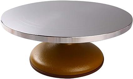 Cake Cake Knife Cake Turntable Cake Decoration Table Household And Commercial Baking Tools Aluminium Alloy Turntable Non Slip Base Amazon De Kuche Haushalt