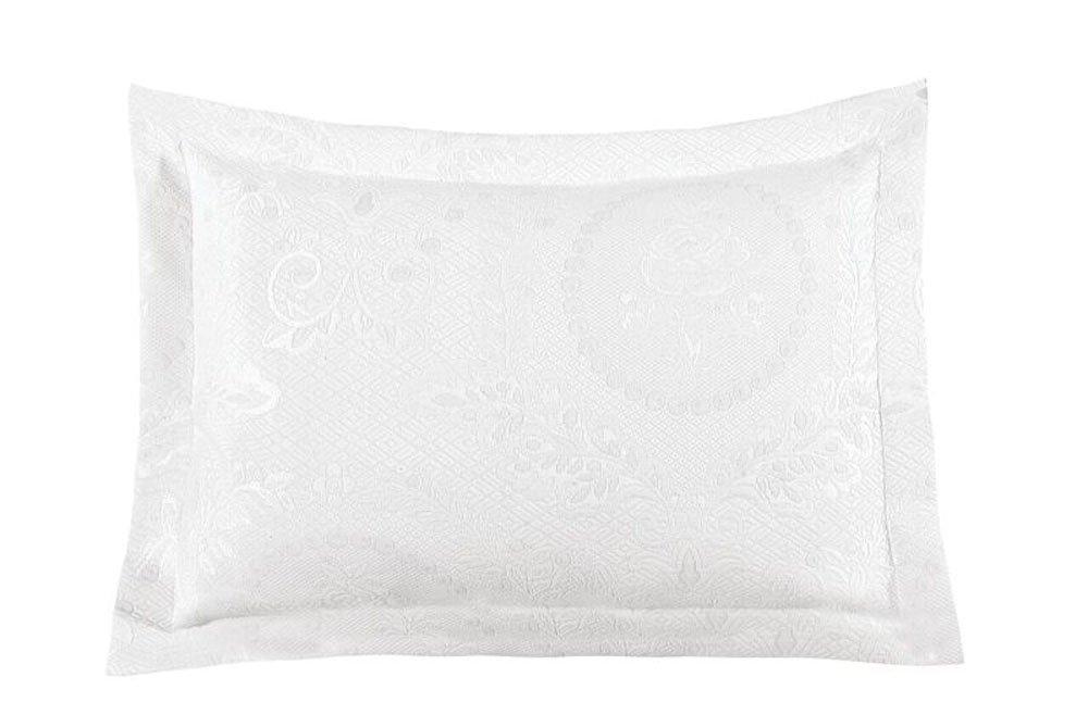 White King Sham 20  X 36  - 2-Pack Europa Fine Linens Kensington pink Matelasse Bedspread, King, White