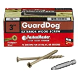 FastenMaster FMGD003-75 GuardDog Exterior Wood Screw, Tan, 3-Inch, 75-Pack